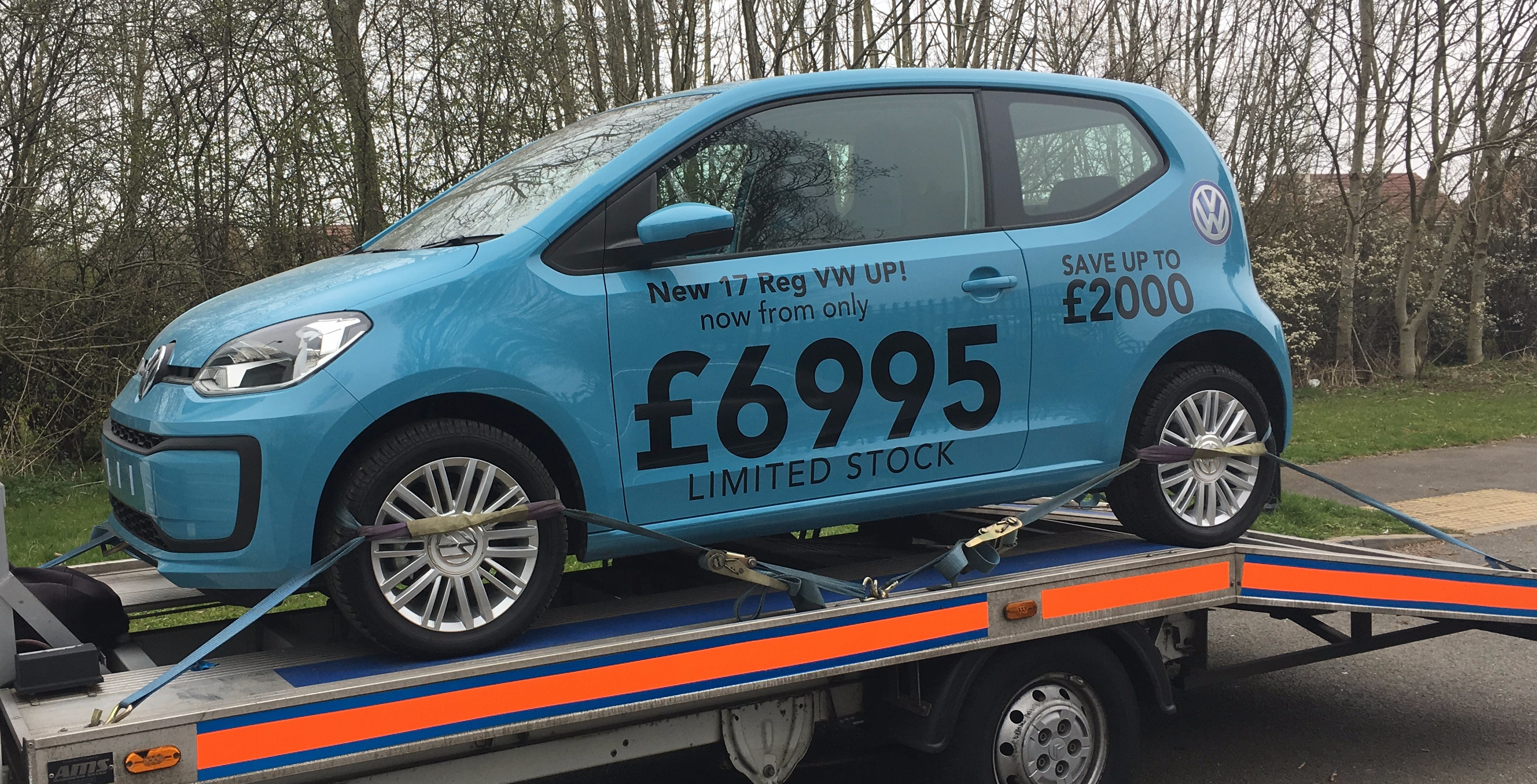 Brand New VW UP Collected from Volkswagen